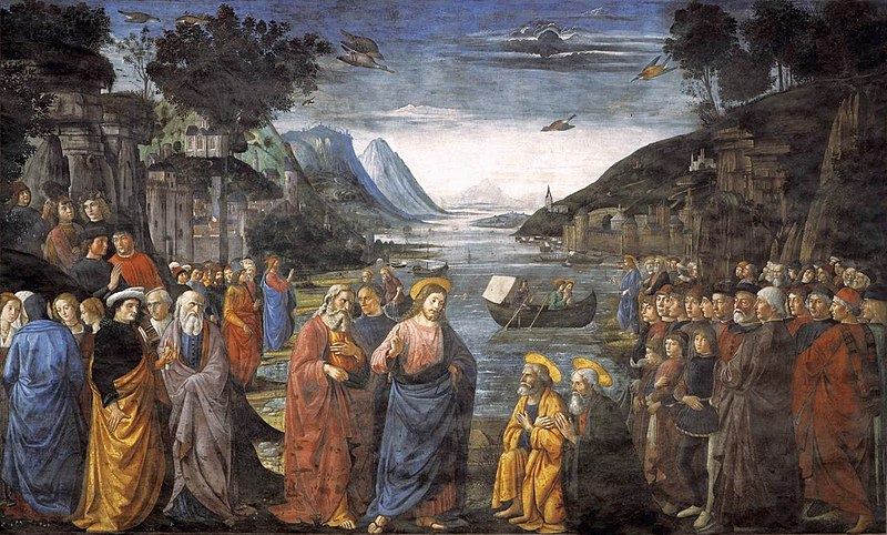 Vocation of the Apostles, a fresco in the Sistine Chapel by Domenico Ghirlandaio, 1482