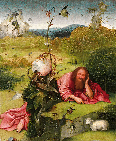 "John the Baptist ""In the Wilderness"" by Hieronymus Bosch, 1489"
